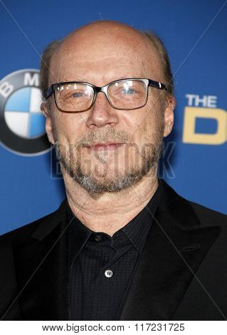 Paul Haggis at the 68th Annual Directors Guild Of America Awards held at the Hyatt Regency Century Plaza in Los Angeles, USA on February 6, 2016.