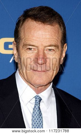 Bryan Cranston at the 68th Annual Directors Guild Of America Awards held at the Hyatt Regency Century Plaza in Los Angeles, USA on February 6, 2016.