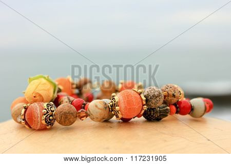 Bracelet Stone And Glass Beads