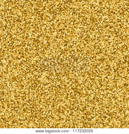 Glitter sequins golden abstract background.