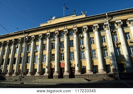 ST. PETERSBURG, RUSSIA - JUNE 27, 2015: Main building of the military space academy named after A. Mozhaisky. The academy traces its history since 1712