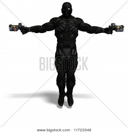 science fiction male character in futuristic