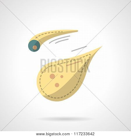Flat color style comet vector icon