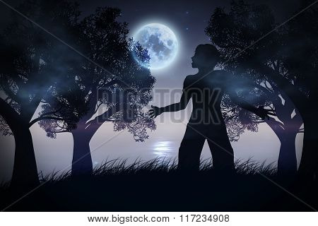 Lonely Night Landscape
