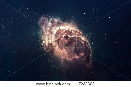 Nebula and stars in deep space, glowing mysterious universe. Elements of this image furnished by NAS