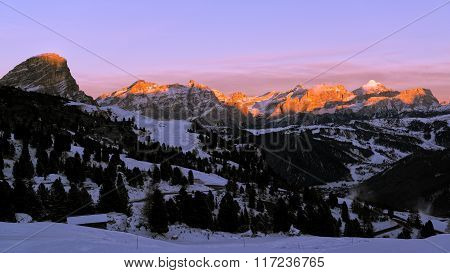 Sunset On The Dolomites Skyline