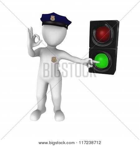 Green Traffic Light - Go!