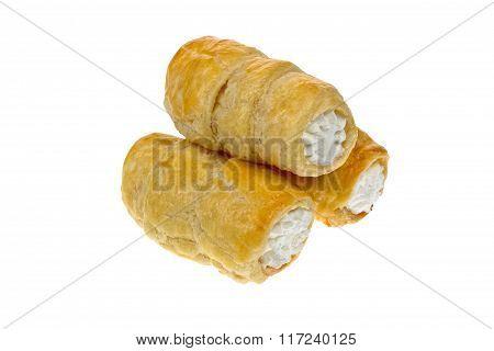 Cream horns isolated sweet food