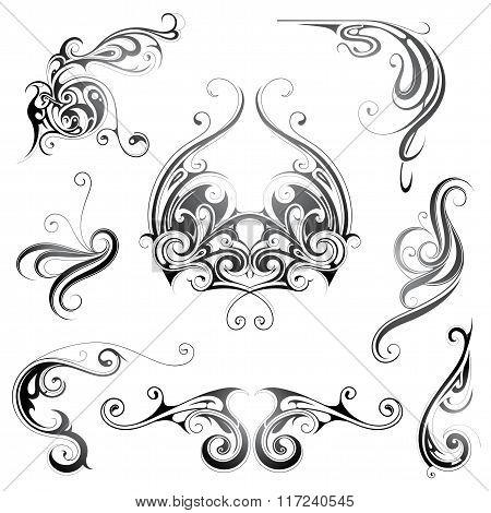 Set of grphic design elements
