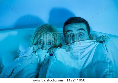 Frightened Couple At Home