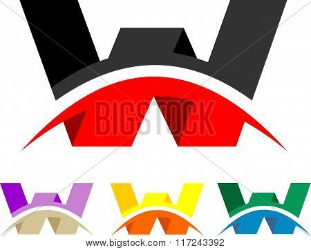 stock logo letters w