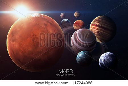 Mars - High resolution images presents planets of the solar system. This image elements furnished by