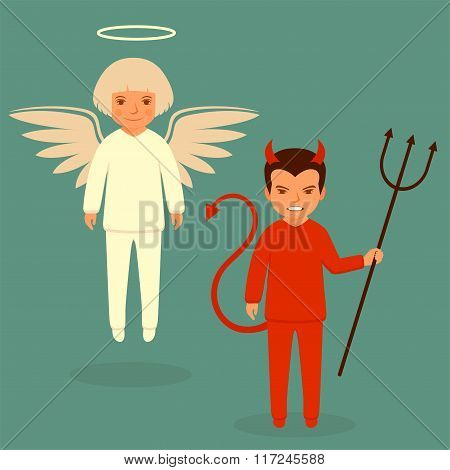 devil and angel,