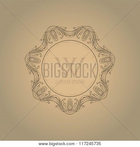 Calligraphic elegant floral monogram design