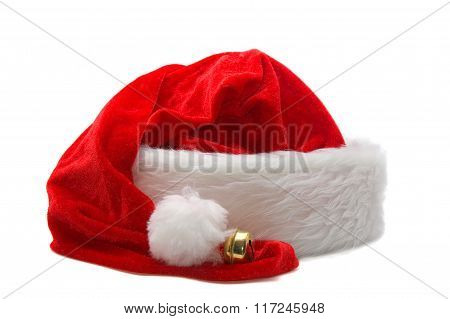 Red Santa Claus Hat Isolated On White