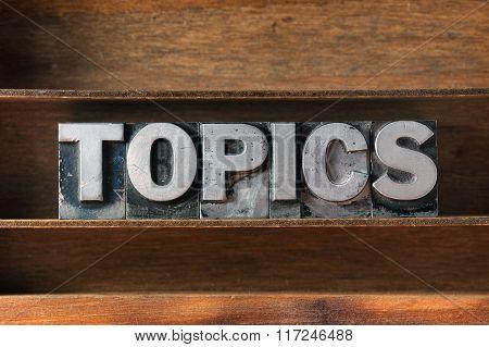 Topics Word Tray
