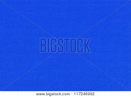 Blue crepe paper.