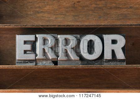 Error Word Tray