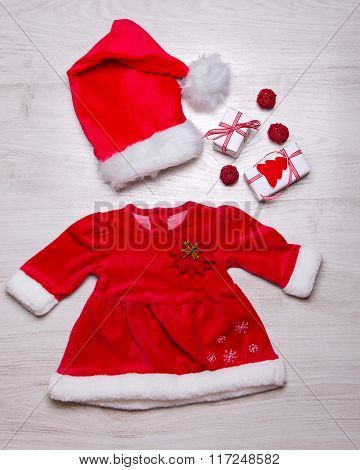 Set Of Christmas Baby Girl Clothes