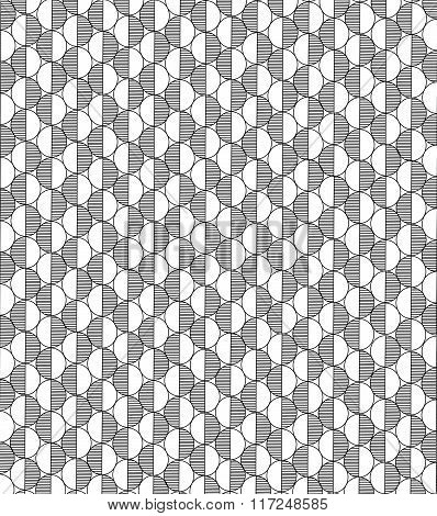 Abstract Blackly White Pattern