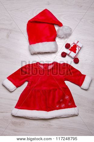 Baby Girl Christmas Set Of Clothes