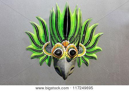 Sri Lankan Devil Wooden Mask