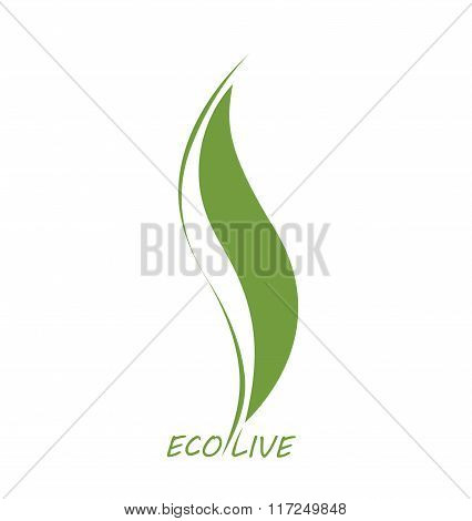 Ecology Icon Vector Green Clean Life Natural