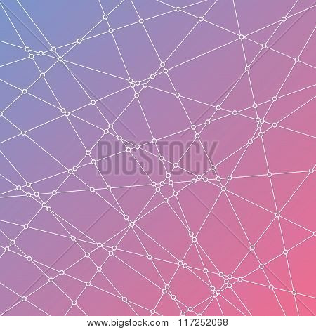 Abstract background with lines and dots.
