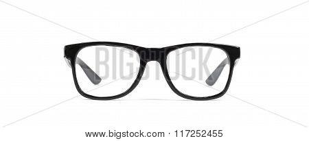 Pair of black eyeglasses