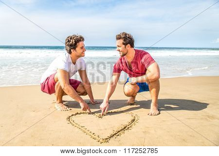 Gay Couple On The Beach
