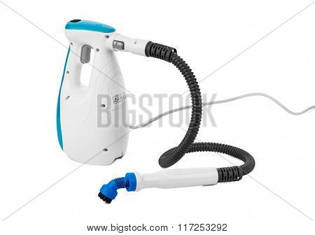 Steam cleaner isolated on white background