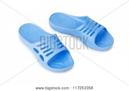 Beach shoes isolated on white background