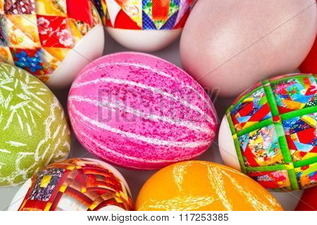 Easter eggs - abstract background