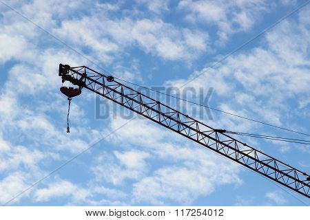 Construction Crane Against The Sky