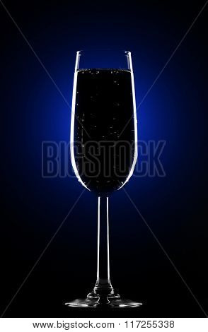 Perfect elegant glass for the champagne