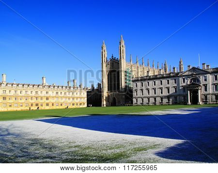 King's College and Clare College Cambridge University
