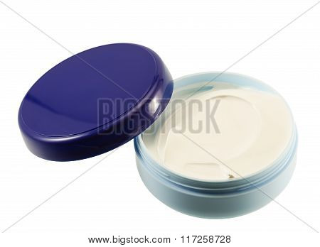 A Container Of Cream Bottle