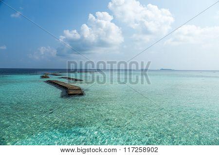 Idian ocean view, Vaagali Island