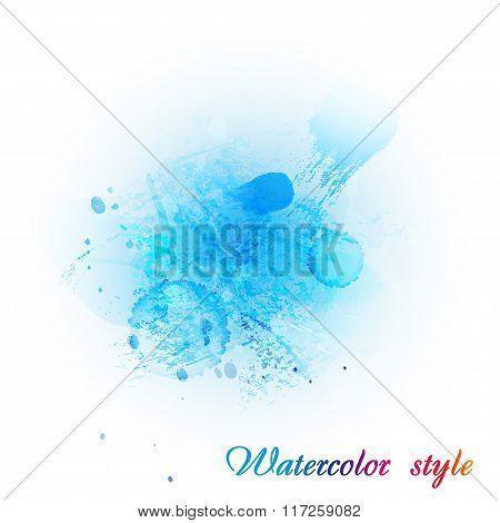 Imitation blue watercolor
