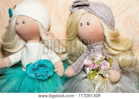 Textile Dolls Handmade