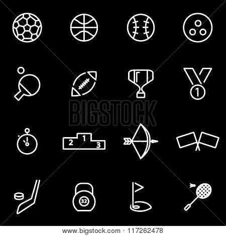 Vector Line Sport Icon Set