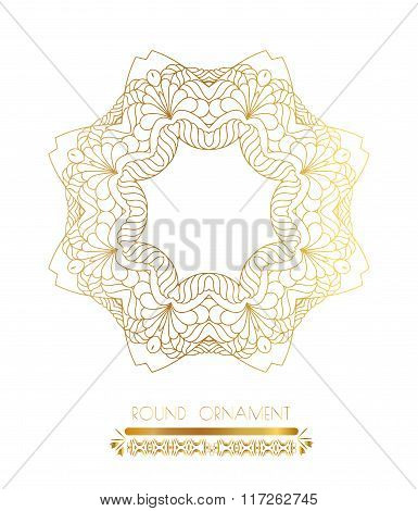 Traditional golden decor