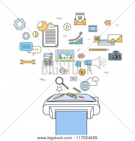 Smart Watch Application Technology Electronic Device Doodle Icons