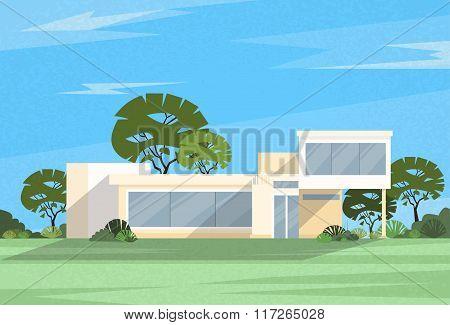 Real Estate Big Modern Villa House