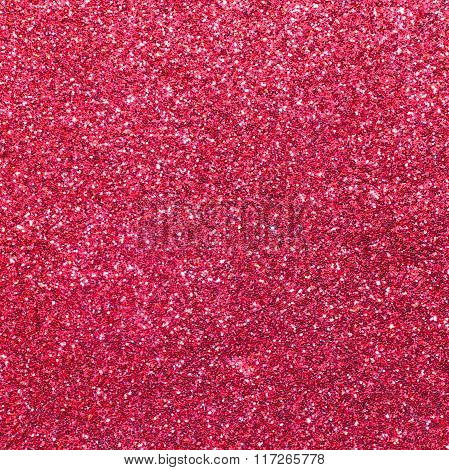 Bright Red Background And Shimmering Shiny Texture