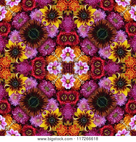 Seamless Background From Flowers
