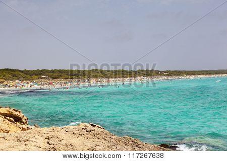 Es Trenc beach in Mallorca island, Spain