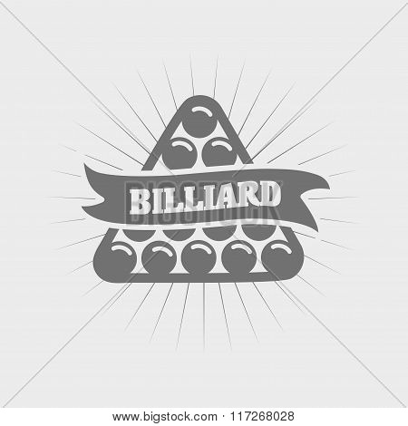 Billiards And Snooker Sports Emblem With Text For Sporting Logo Badge Or Label Design