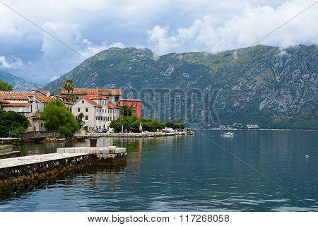 Bay Of Kotor Near Town Prcanj, Montenegro