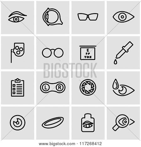 Vector Line Optometry Icon Set